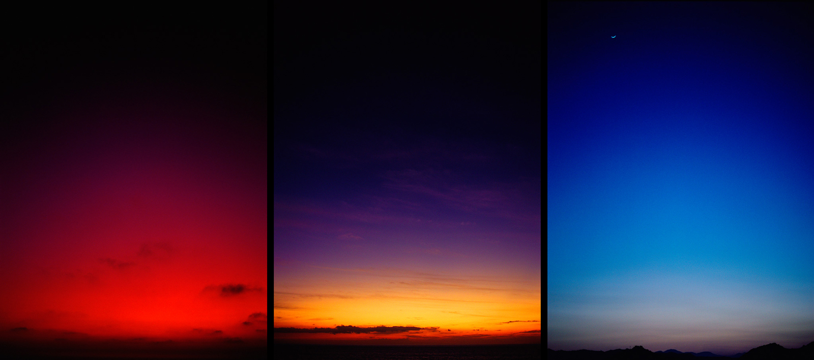 Glen Wexler |  Mountains Desert  Sea sky triptych