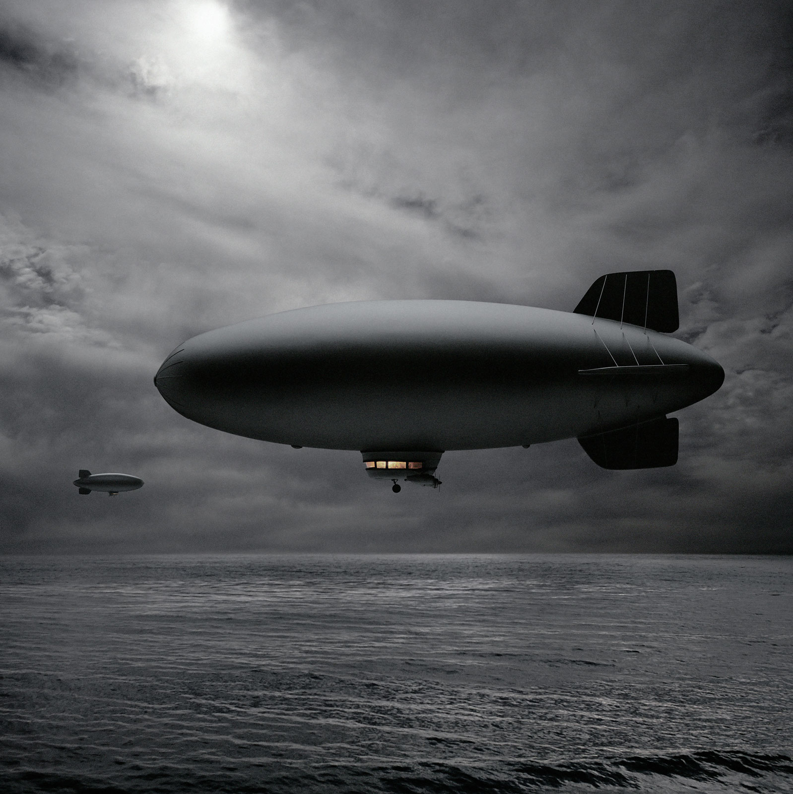 """Two Blimps Passing in the Night"""