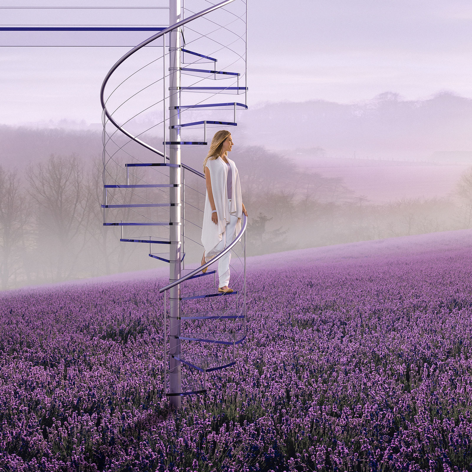 Glade | CGI staircase combined with landscapes and studio photography