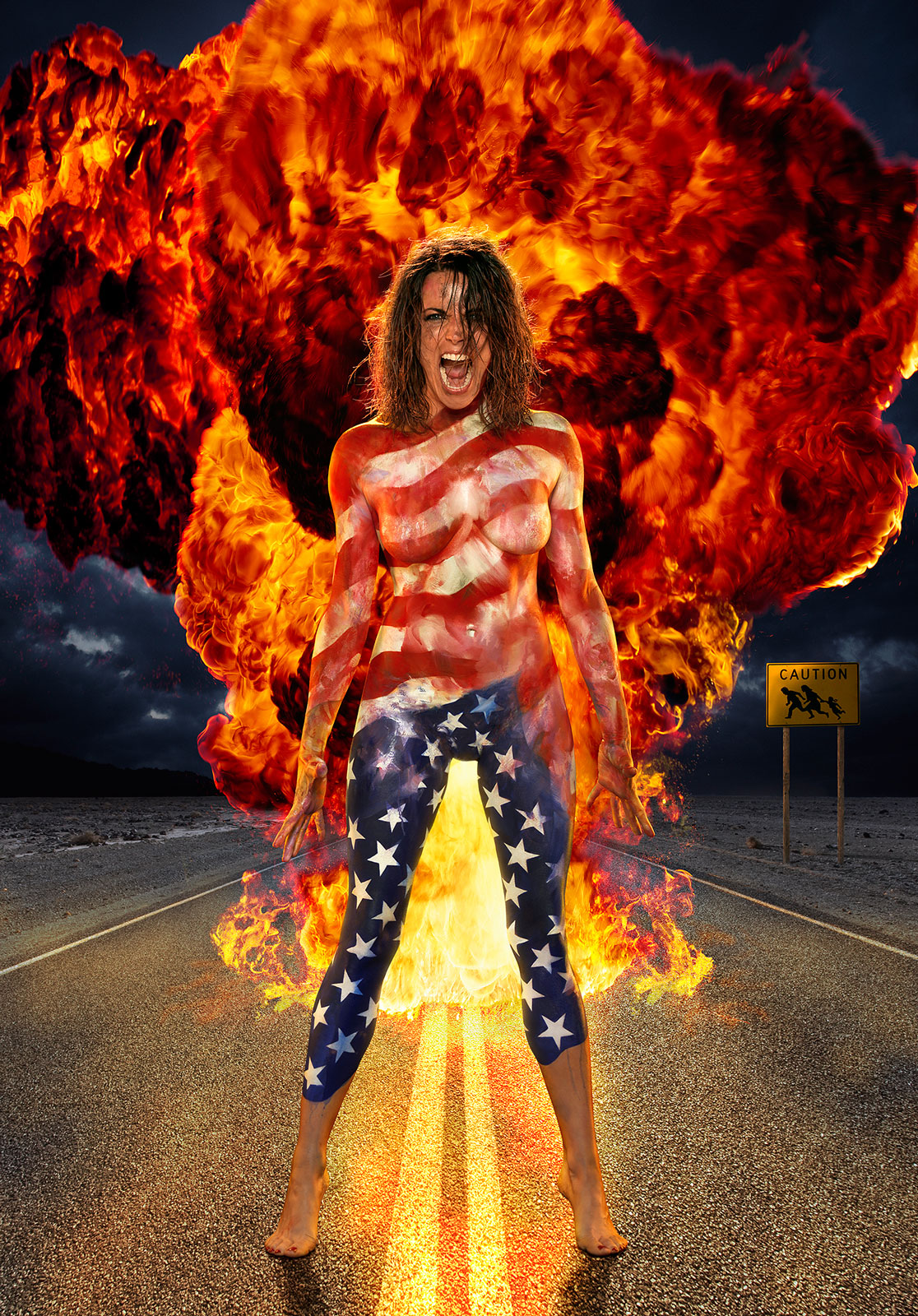 """Patriotic Bitch"" key art"