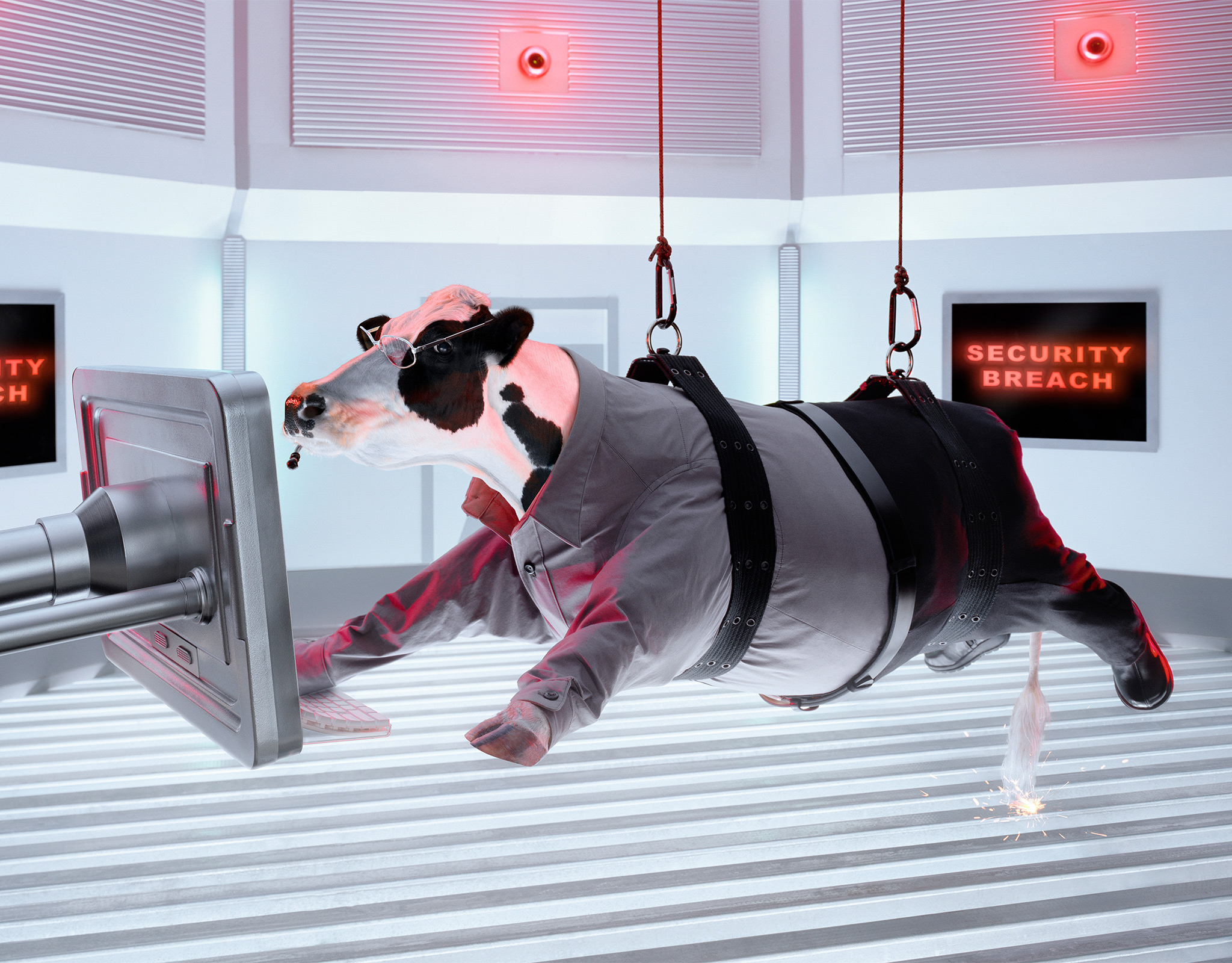Secret Agent Cows | Mission Impossible | miniature set | Glen Wexler | Advertising Photographer